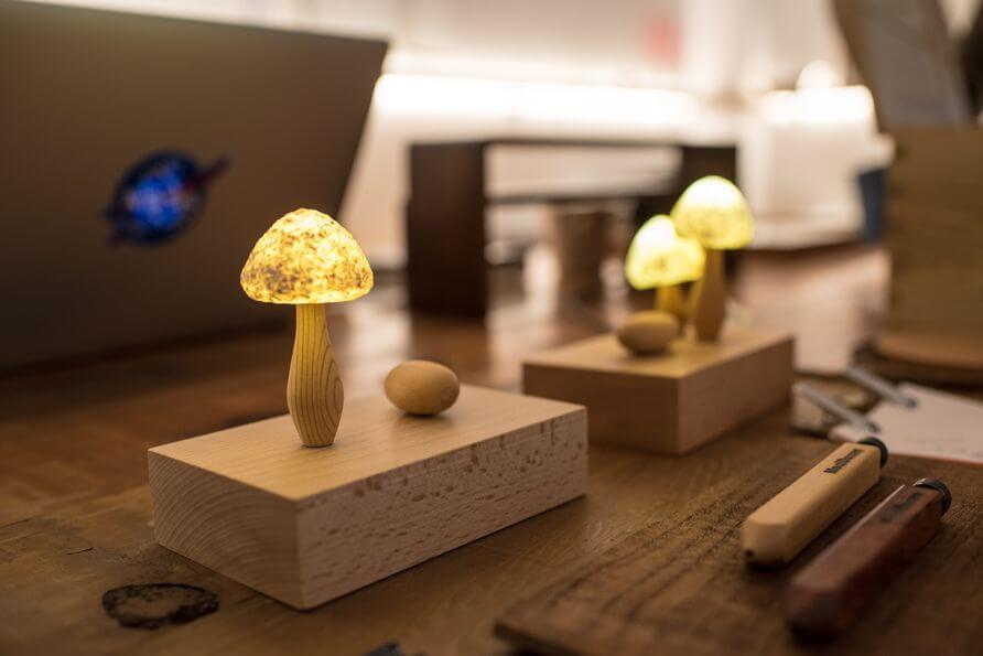 可愛的蘑菇姐妹燈是木子到森的作品