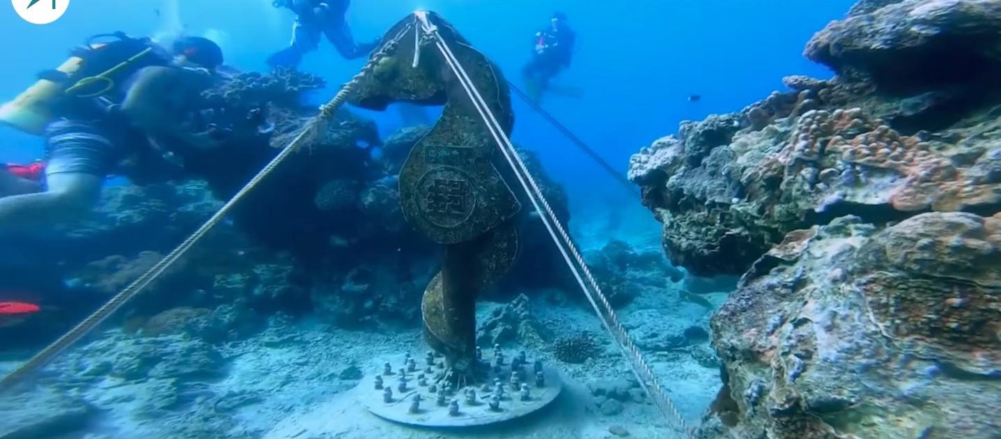 世界最深的海底郵筒--能見度超高的綠島潛水(影片)